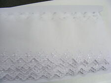 Broderie Anglaise Flat Lace White x 10   (630011)