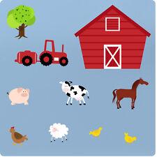 Enfants Animaux de Ferme Nurserie Chambre Vinyle Wall Stickers Autocollants Arbre Décoration Art