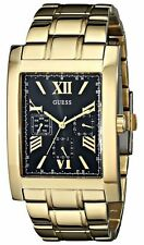 Guess Men's W0484G Gold Stainless-Steel Analog Quartz Watch Black Dial