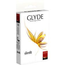 Glyde Vegane Kondome Ultra Slimfit 10er Pack | schmal | vegan