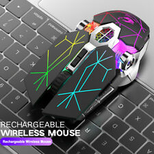 X13 Wireless Gaming Mouse 2.4G BT 2400DPI USB Rechargeable Backlight Mute Mice