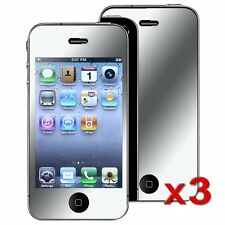 3 X Mirror LCD Screen Protector Cover Film Guard For Apple iPhone 4G 4GS