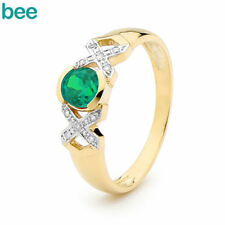 Emerald Cocktail Yellow Gold Fine Rings