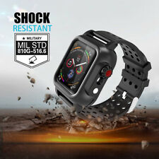 Waterproof Case with Band Strap For Apple Watch Series 6/5/4/3/2/1 38/42/40/44mm