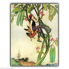 JACK AND THE BEANSTALK - METAL SIGN WALL PLAQUE Vintage art poster print