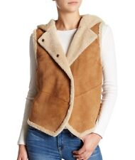 $795 NEW UGG AUSTRALIA GENUINE LAMB SHEARLING ALLYSON VEST HOODED COAT JACKET L
