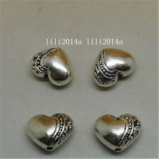 20pc Tibetan Silver Charm heart Spacer Beads Accessories wholesale PL1000