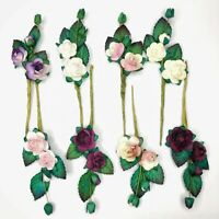 Mulberry Paper Rose Flowers Mini Floral Spray Card Embellishments Art Crafts DIY