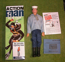 Action Man 40th Boxed Action Sailor noir peint cheveux dur Mains (GI JOE)