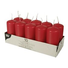 10 Stumpenkerzen �˜ 40mm x 90mm farbig Blockkerzen Adventskerzen Weihnachtskerzen
