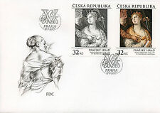 Czech Rep 2017 FDC Prague Castle Veronese Catherine & Angel 2v Cover Art Stamps