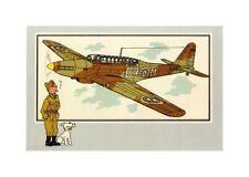 HERGé/TINTIN 195x  CHROMO L AVIATION 1939/45  N°  7 TBE