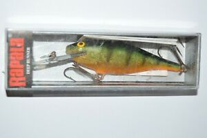 """old rapala shad rap sr-9 sr09 p perch 3 1/2""""  made and printed in Finland"""
