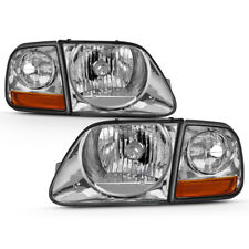 97-03 Ford F150 Expedition Chrome Replacement Headlight Corner Signal Lamp Set