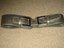 BNWT JANE NORMAN silver belt with large buckles -M/L  10/12/14 - Gr8 gift!