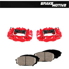 Front Red Brake Calipers & Ceramic Pads For 03 - 09 4 Runner 05 - 16 Tacoma