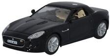 Black Jaguar F Type OO 1/76 Oxford Die-cast 76FTYP001