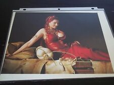 LUCY LAWLESS of XENA/SPARTACUS SIGNED 8X11 PHOTO CELEBRITY SLEUTH RED HAIR+DRESS