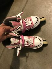 Harsh pink converse style Inline Skates Roller Blades Youth adjustable size 5-8