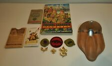 Lot of Vintage Boy Scout Utensil Set Book Patches 1941 National Counsel Card +++