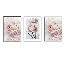 (Reduced Price) A4 or A5 Home Wall Decor Set Of Three Flower Prints