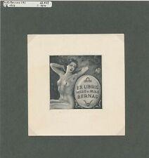 EX20405 EX Libris MILO BERNAS 1956 nude woman art fine c2