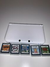 Nintendo 3DS XL White + 5 POPULAR GAMES - WORLDWIDE - POSTAGE