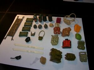 Vintage Original 1980s GI Joe Parts weapons accessories lot Of  51