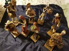 8 Vintage Mexican  Paper Mache Figurines -  Farmers Assorted see photo.