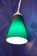 New! Hanging Teal Glass Lamp with Cord-Beautiful Glow!