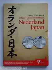 Netherlands 2010 Het Nederland-Japan Vijfje Euro Zilver Proof