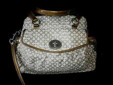 COACH LG OP ART COATED SIGNATURE C KHAKI GOLD ADDISON MULTI BABY DIAPER TOTE BAG