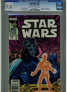 STAR WARS #76 CGC 9.8 DEATH OF ADMIRAL TOWER 1983 OWTW PAGES NEWSSTAND EDITION