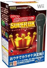 Karaoke Joysound Wii Super DX: Hitori de Minna de Utai Houdai! (w/ Microphones)