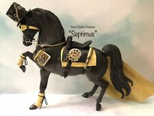 Breyer Steampunk Custom Painted Model W/ Custom Tack Set One Of A Kind