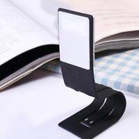 Magnetic USB wiederaufladbare LED Buch Licht flexible Clip auf Nacht Leselampe.#