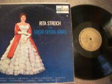 RITA STREICH,GREAT OPERA ARIAS (RARE) ORIGINAL DECCA RECORD  LP