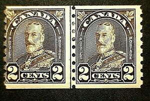 Canada #182i George V Arch Issue (1931) LINE COIL PAIR MLH