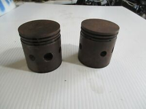 Original Excelsior, Henderson, Indian, Early Steel Pistons 37 ci.