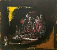Original Abstract Painting Modern Fine Art Contemporary Expressionist Signed