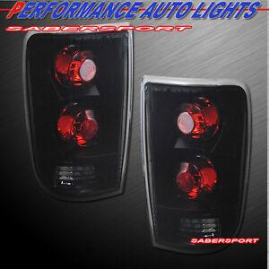 Set of Pair Black Smoke Taillights for 1995-2005 Blazer Jimmy / 96-01 Bravada