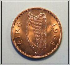 IRELAND PENNY Tie Tack - copper irish harp pingin pence coin jewelry lapel pin