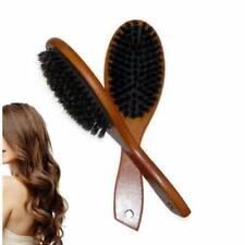Mini Natural Bristle Hair Brush Comb Oval Anti-static Paddle Massage Brush Scalp