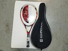 Wilson Ncode W4 Red Fury Racket With Case W 4 3/8 L3 New 107 Sq in