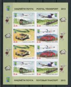 Tadschikistan Kleinbogen MiNr. 623-26 B postfrisch MNH Transportmittel (1A248