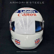 NIGEL MANSELL SIGNED AUTOGRAPHED F1 HELMET VISOR 1992 1:1 WILLIAMS DISPLAY
