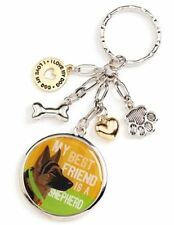 """My Best Friend is a Shepherd"" Who's Your Doggy Charm Key Chain"