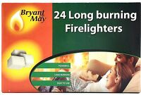 Bryant & May Firelighters x 24 pcs. Pack Fire Lighters for BBQ,Wood Coal Burner