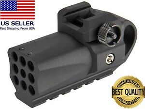 HFC Airsoft Mini Grenade Launcher 40 Rounds 6mm Gas Powered Built-In Rail Mount