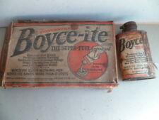 Petit bidon d'huile plein  additif essence,gazoline BOYCE-ITE U.S.A. années 30 ?